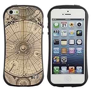 LASTONE PHONE CASE / Suave Silicona Caso Carcasa de Caucho Funda para Apple Iphone 5 / 5S / Engineering Drawing Parchment