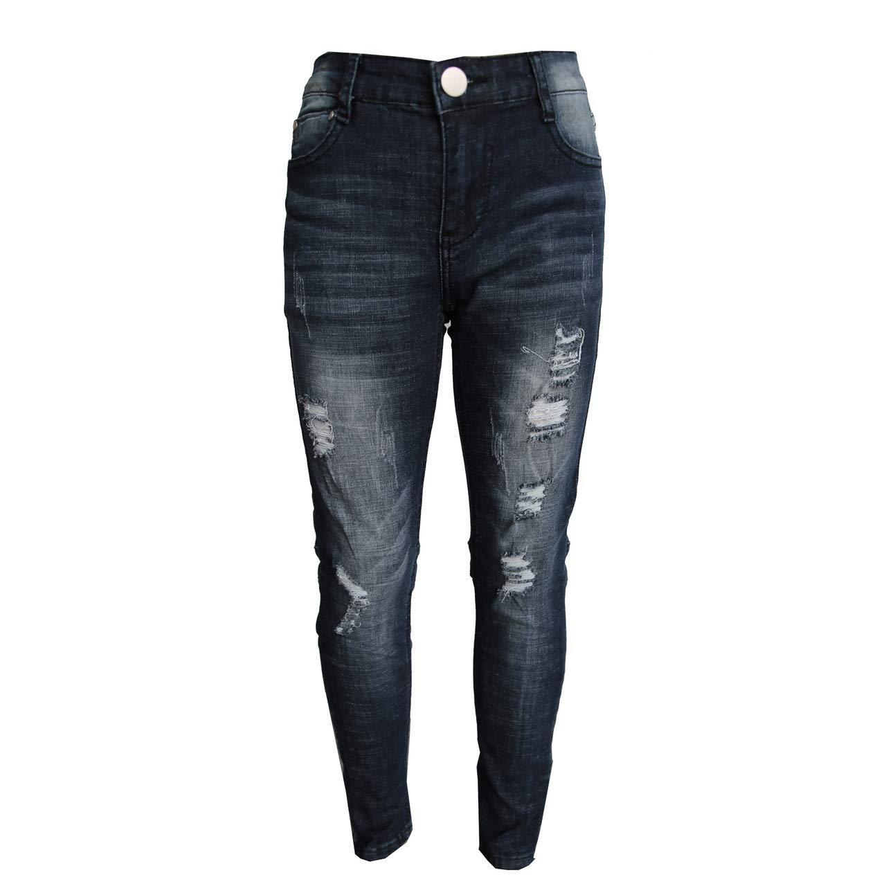 GUBA/® Girls Skinny Jeans Denim Ripped Stretchy Jeggings Designer Pants Fashion Trousers