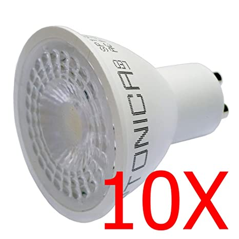 10 x optonica Bombilla LED GU10 7 W 110 ° SMD
