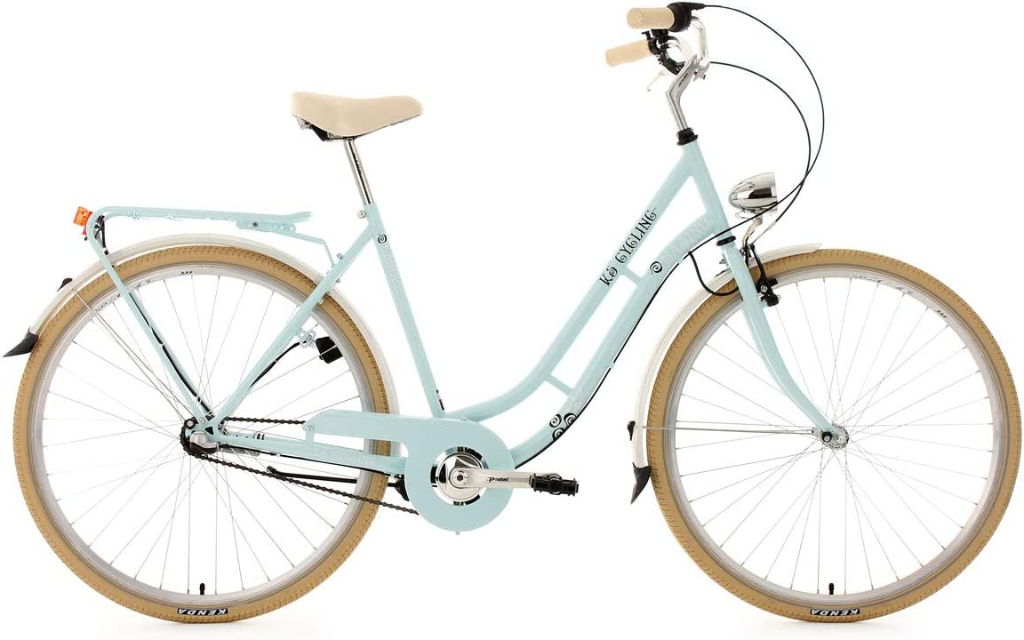 KS Cycling 998B - Bicicleta de paseo para mujer, color azul ...