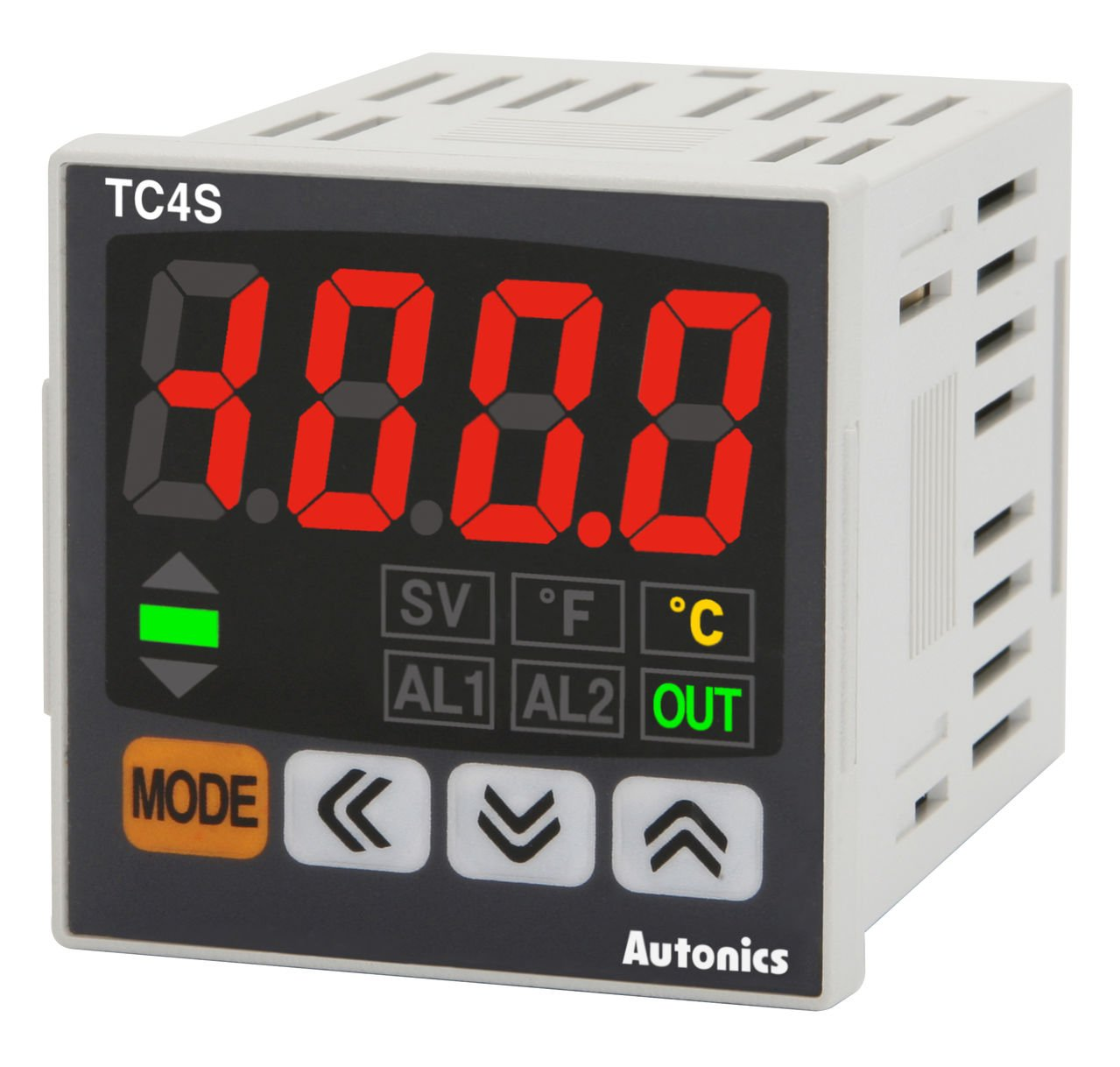Autonics TC4SP-12R Temp Control, 1/16 DIN, 11 Pin, Single display, 4 Digit, PID Control, Relay & SSR Output, 1 Alarm Output, 12-48VDC, 24VAC 50/60Hz (Socket Required).. by Autonics USA, Inc