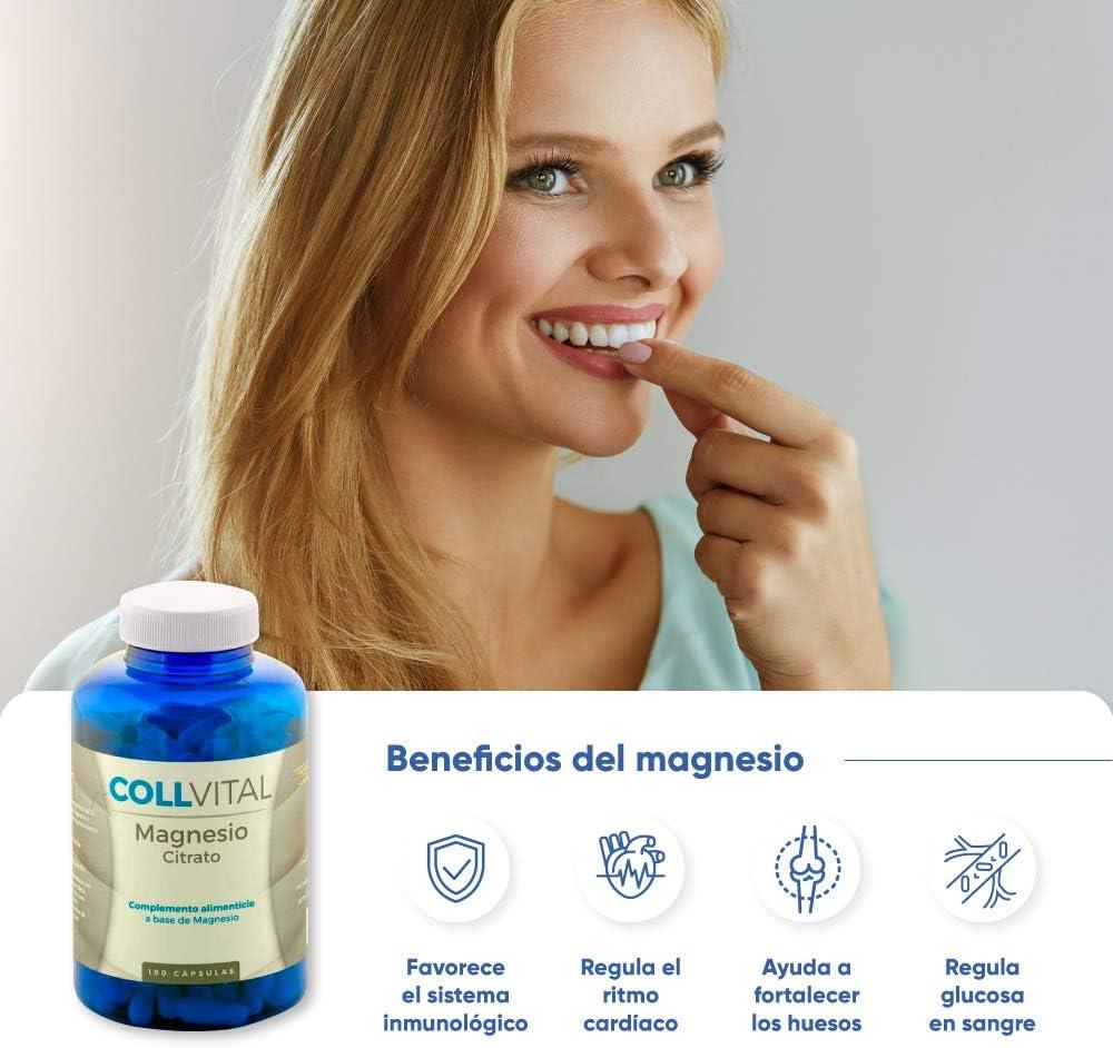 Citrato de Magnesio natural 180 cápsulas de 400mg vitaminas para el cansancio suplemento para 6 meses. Suplementos deportivos en capsulas que evitan la fatiga y el cansancio.: Amazon.es: Salud y cuidado personal