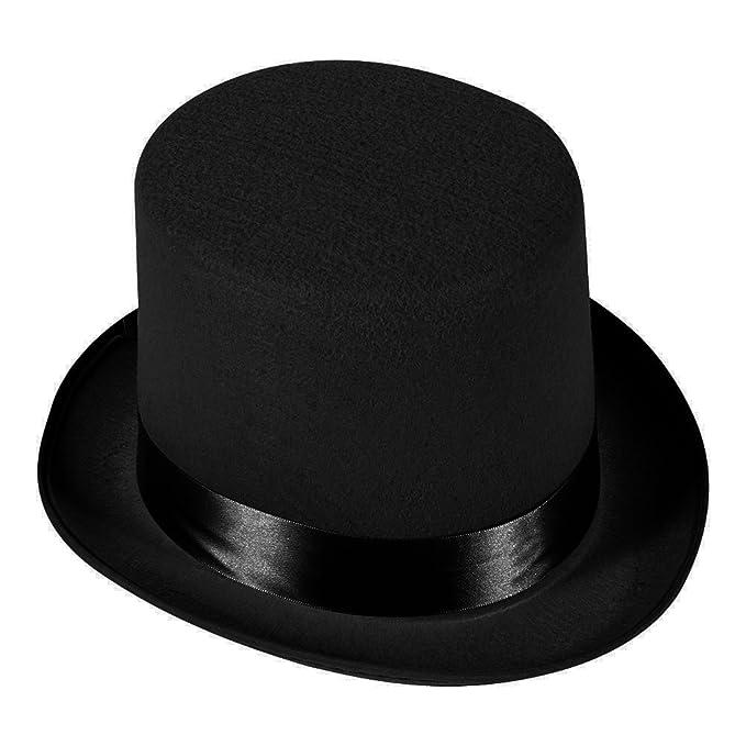 b1c4167df89e5 Amazon.com  5 Inch Black Felt Top Hat - Gentleman s Felt 5 Inch Top Hat by  Funny Party Hats
