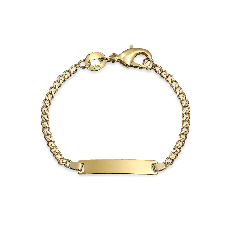 Bling Jewelry Niños llenos de Oro brazalete de identificación del bebé EN
