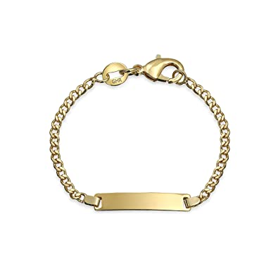 Bling Jewelry Gold Filled Childrens Baby ID Bracelet 5in Amazon