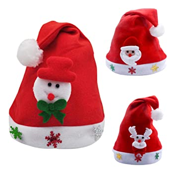 Christmas Hats For Kids.Children Santa Hat Christmas Classic Cosplay Caps Soft