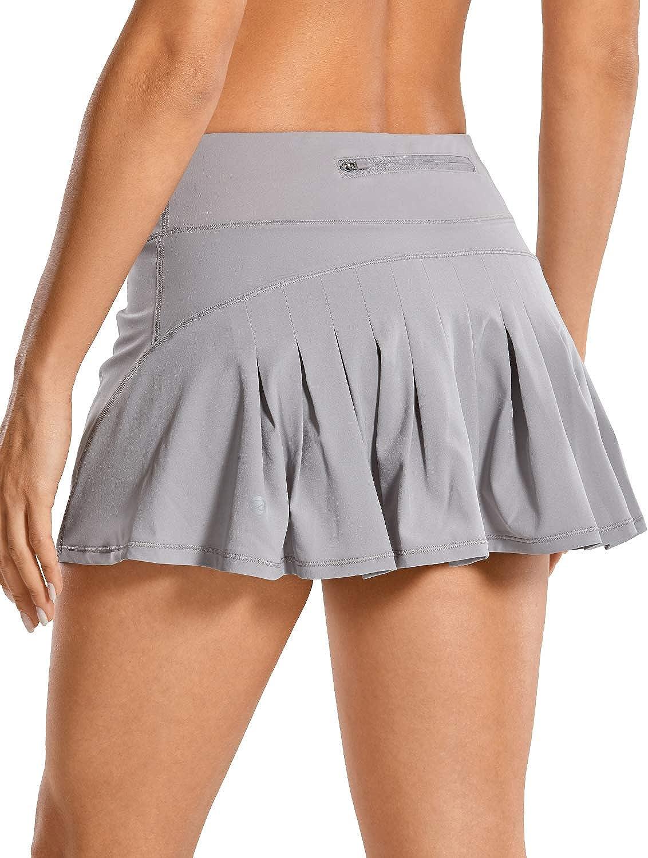 CRZ YOGA Mujer Deportivo Corto Falda Plisada Skorts de Tenis Golf con Interior Shorts