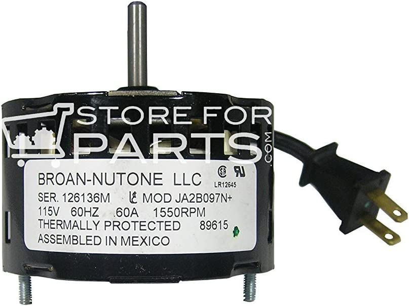 3.3 Inch Diameter Vent Fan Motor Replacement For Nutone//Broan JA2B097N 89615