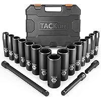 $45 » 18pcs 1/2-Inch Drive Deep Impact Socket Set, 6 Point,10-24mm,15pcs Metric Sockets With 3pcs Extension Bar Set-HIS1A