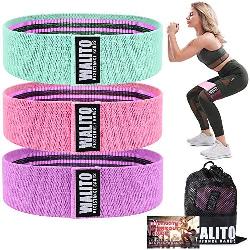 Resistance Bands for Legs and Butt,Exercise Bands Set Booty Hip Bands Wide Workout Bands Sports Fitness Bands Resistance Loops Band Anti Slip Elastic (Green,Pink,Purple) (Green,Pink,Purple)