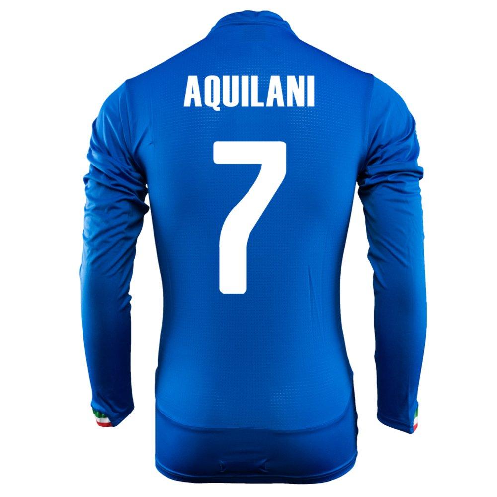 Puma Aquilani #7 Italy Home Jersey World Cup 2014 Long Sleeve/サッカーユニフォーム イタリア ホーム用 長袖 ワールドカップ2014 背番号7 アクィラーニ B00KVN3T68 L
