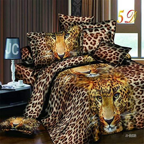 Mandarin Duck 3D Bedding Set of Duvet Cover Bed Sheet Pillowcase Comforters Cover AS2 ()