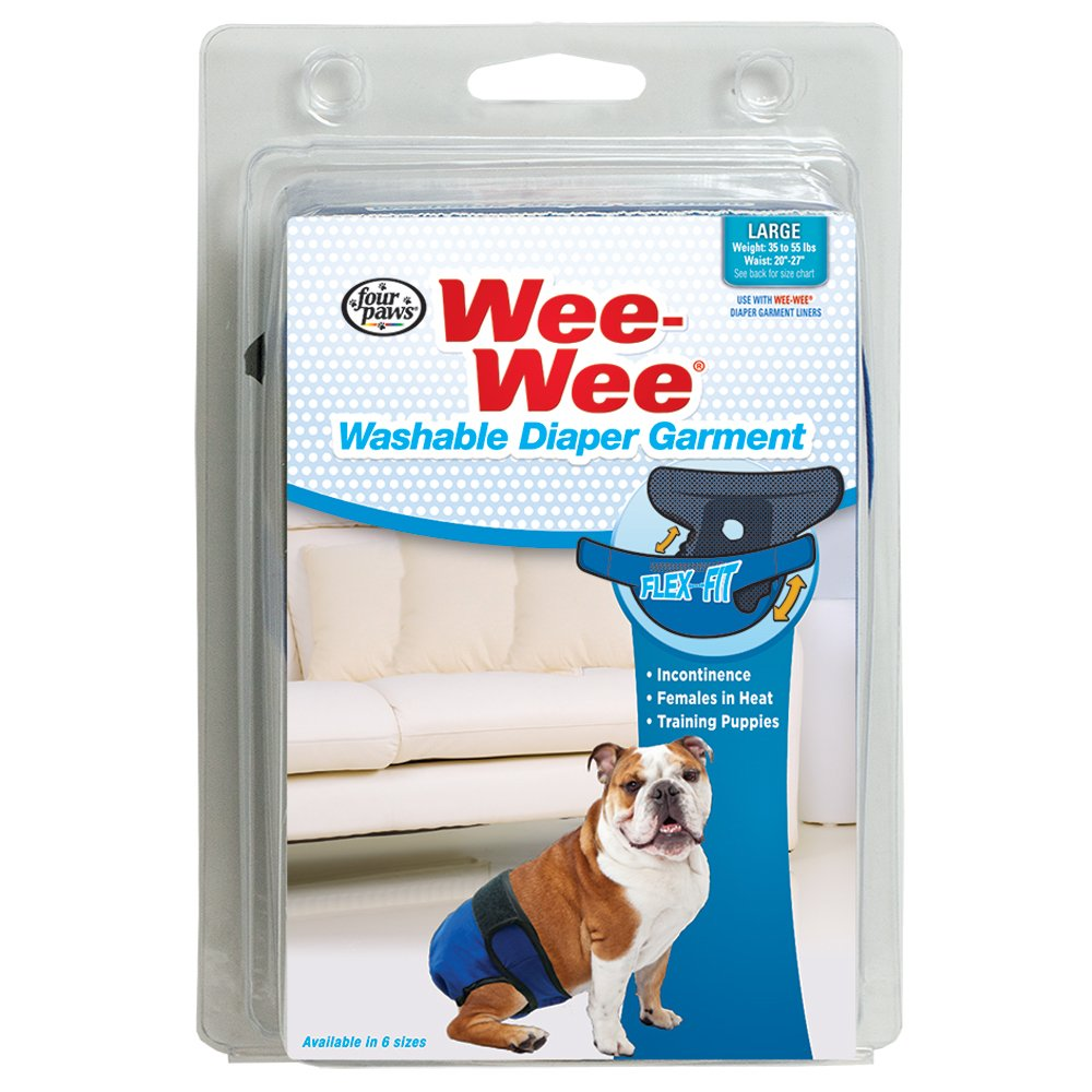XX-Small Four Paws Wee-Wee Washable Dog Diaper Garment