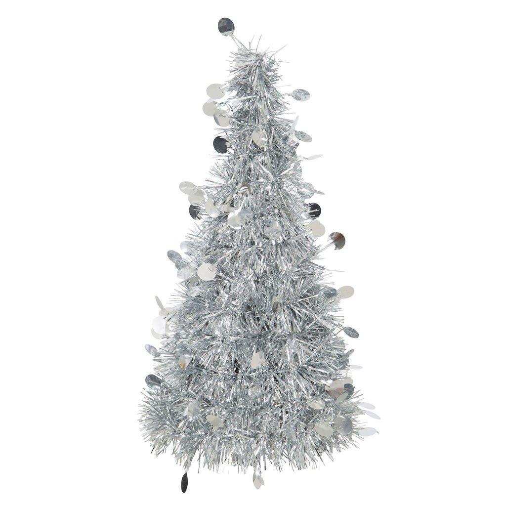 Amscan 3D Silver Tinsel Christmas Tree
