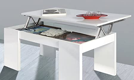 Table basse avec plateau relevable for Fabriquer table basse relevable
