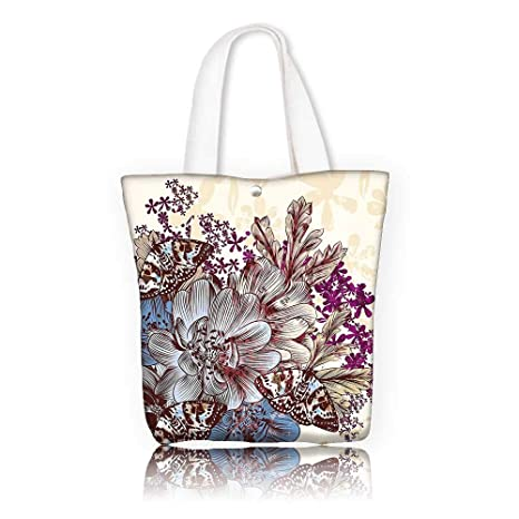 30dfd1c62 Amazon.com: Canvas Beach Bags -W14 x H15.7 x D4.7 INCH/Reusable ...