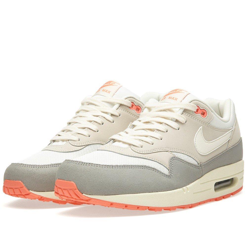 Nike Nike Air Max 1 Essential, Grey - Zapatillas de material sintético hombre 43 EU|White