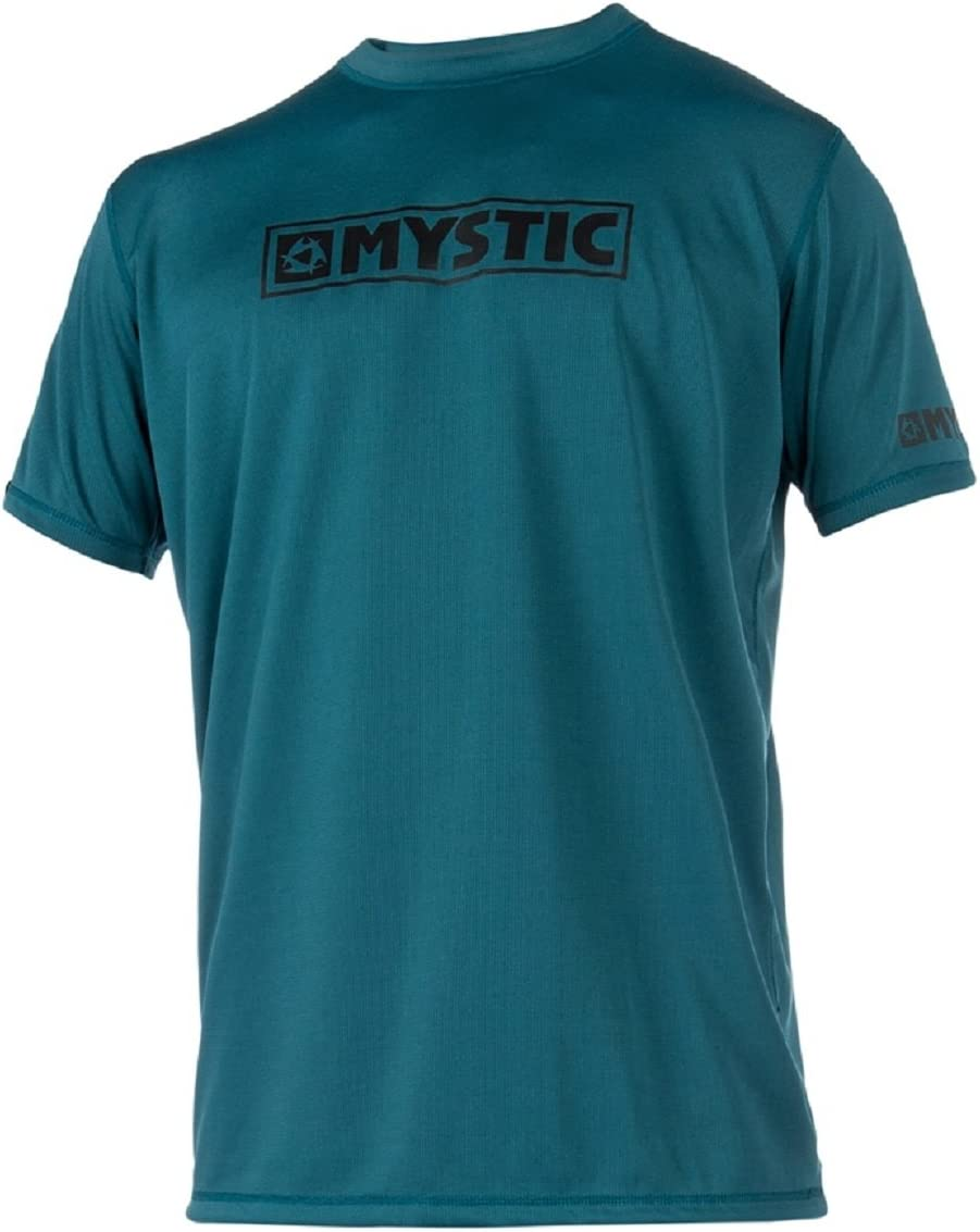 Sterne UV-Schutz Atmungsaktiv UPF 50+ lockere Passform Mystic SS Loosefit Schnell Dry Schnell Dry Leicht Rash Vest Top Wei/ß