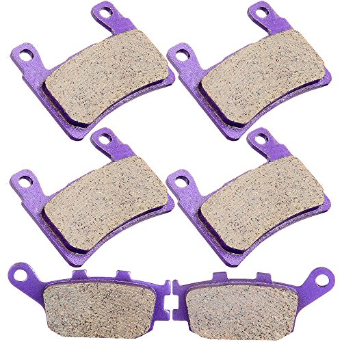 CCIYU Front and Rear Carbon Fiber Brake Pads Motorcycle Motorbike Replacement Brake Pads Fit For 2000 Honda CBR600F4, 2001 2002 2003 2004 2005 2006 Honda CBR600F4i, 2003 2004 Honda CBR600RR