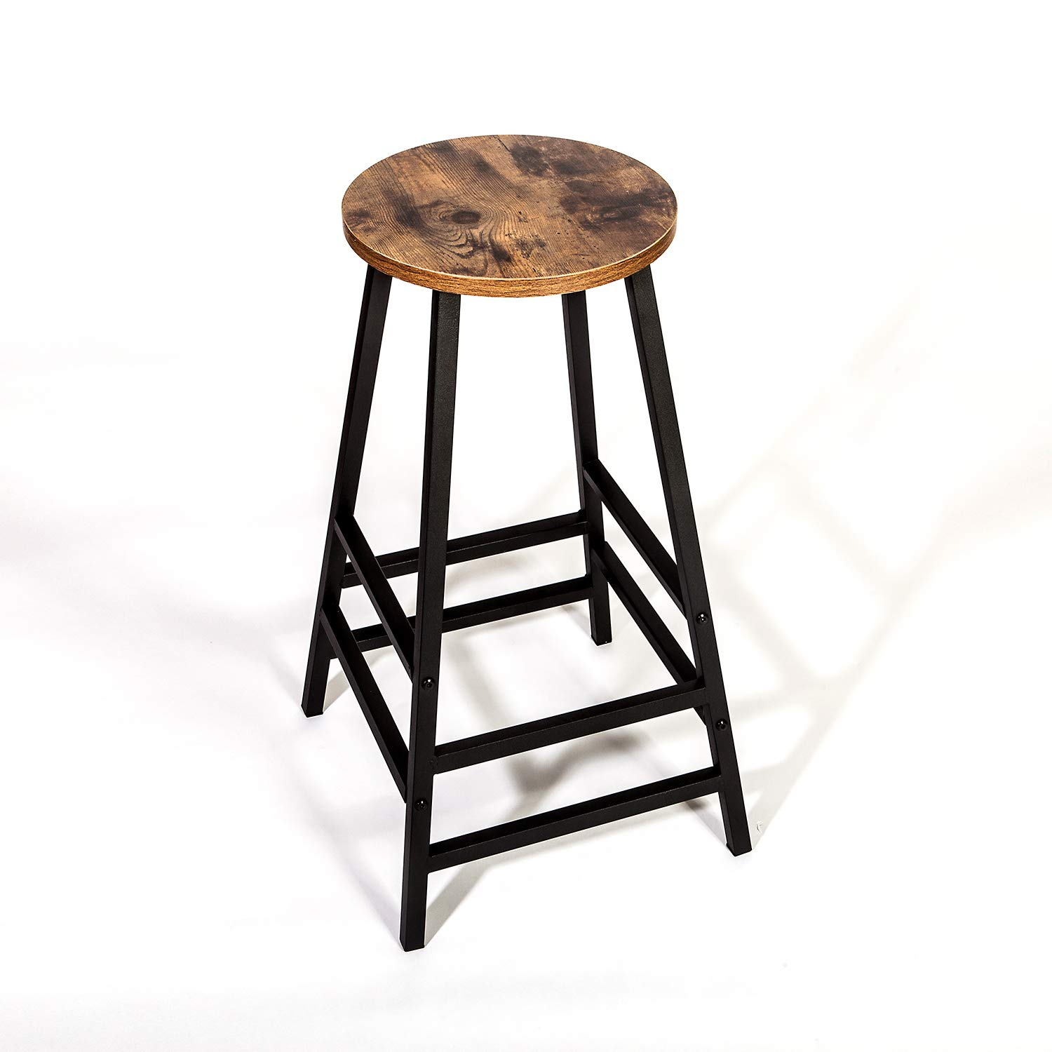 IRONCK RONCK Industrial 28.5'' Pub Dining Height Bar Stools, Bistro Bar Table and Chairs Sets,Vintage Brown