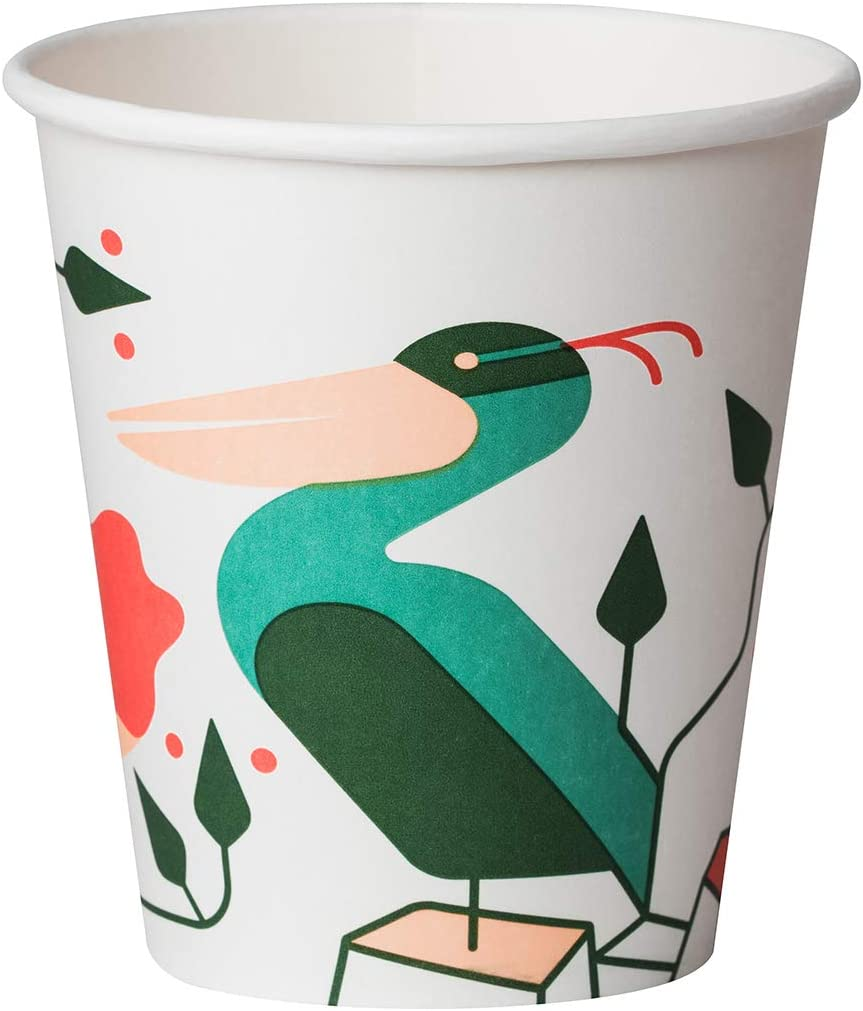 Biodeck Evelin Lot de 50 gobelets compostables et biod/égradables 300 ml