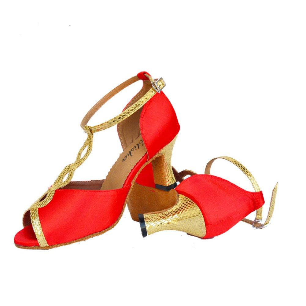 QWERTYUIOP Frauen Latein Tanzschuhe High Heels Dancing Schuhe In Ihrem Zuhause Gesellschaftstanz Leise Unten Ballroom Dance Schuhe