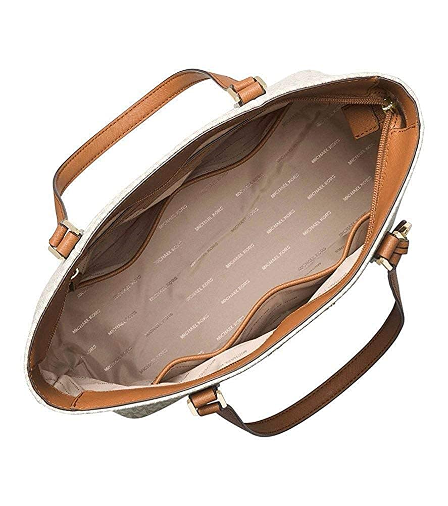 9bda6e6e5f89 Amazon.com: Michael Kors Women's Morgan Medium Tote Shoulder Handbag  Signature Logo Vanilla: Shoes