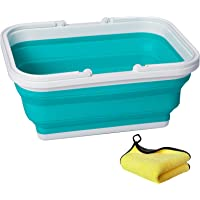 AUTODECO Collapsible Sink with Handle Towel, 2.37 Gal / 9L Foldable Wash Basin for Washing Dishes, Camping, Hiking and…