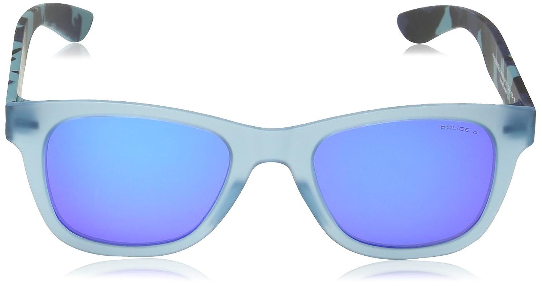 Police Jungen Sonnenbrille SK039, Blau (Semi Matt Full Blue), Einheitsgröße