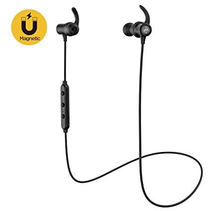 Mpow S6 Auriculares Bluetooth, auriculares inalámbricos magnéticos, [aptX Stereo] Auriculares deportivos in