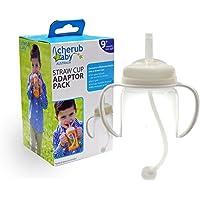 Cherub Baby Straw Cup Adaptor Pack for Wideneck Bottles