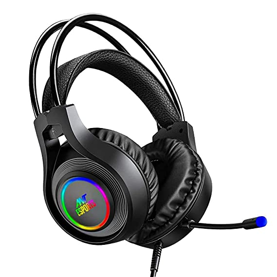 Renewed  Ant Esports H570 7.1 USB Surround Sound R GB Wired Gaming Headset with Noise Cancelling Mic for PC/Laptop Headsets