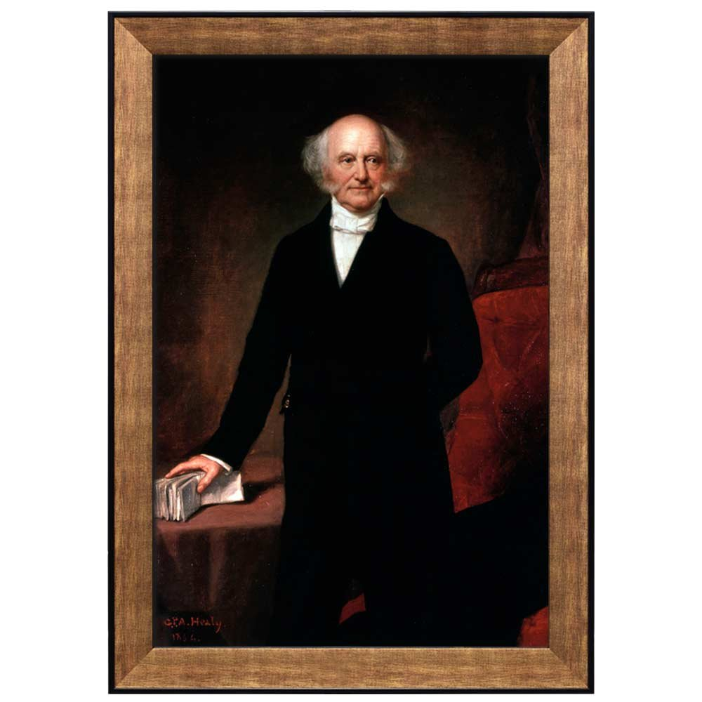 16x24 FRM-PRESIDENTS-45-GLD-16x24 45th President of The United States Portrait of Donald Trump wall26 Framed Art Print Ready to Hang - American Presidents Series