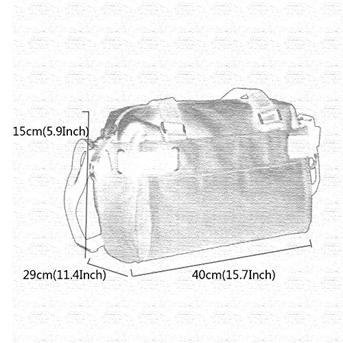 Canvas Leisure Bag Outdoor Travel School Shoulder Black Trendy Hiking Moving Men's Satchel wqA65Ex5g