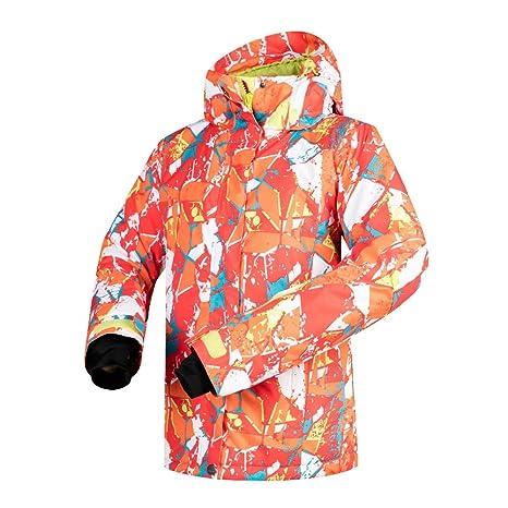 Chaqueta de esquí para Mujer, Abrigo de Invierno cálido de ...