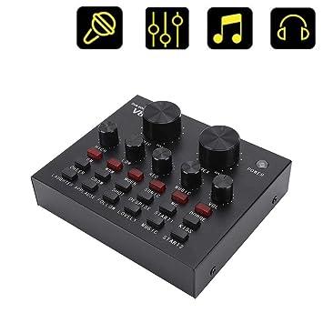 Cambiador de voz profesional, V8 Tarjeta de sonido ...