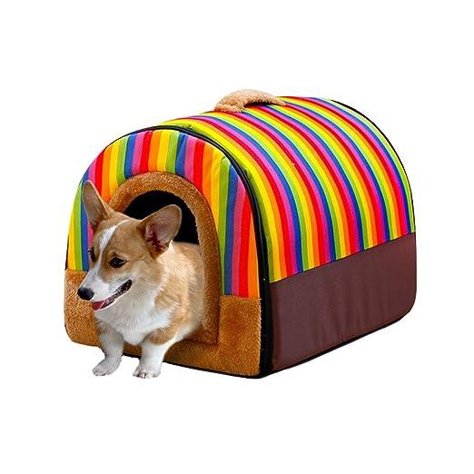 Casa de Perrito Caliente para Mascotas Casa de Perrito Perro doméstico de tamaño Mediano Casa Lavable (Color : A, Tamaño : S): Amazon.es: Hogar