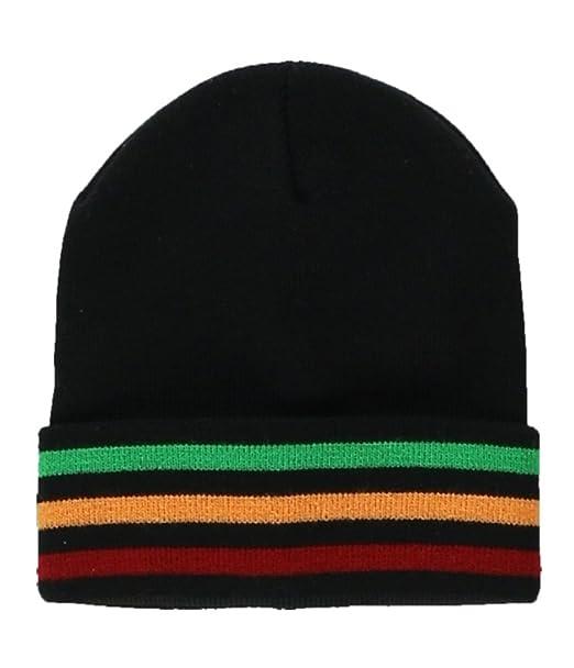 f8c562039fa Amazon.com  Ecko Unltd. Mens Dub Stripe Beanie Hat black One Size ...