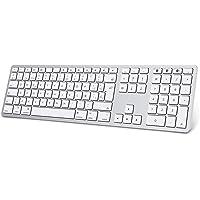 Teclado Inalambrico para Mac OS (Macbook, Mac Mini, iMac, Mac Pro), Teclado Recargable, Teclado Bluetooth para Mac OS…