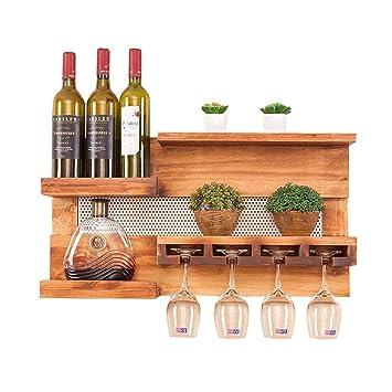 Weinregale Restaurant Holz Becherhalter Wohnzimmer Kuche Wand Rack