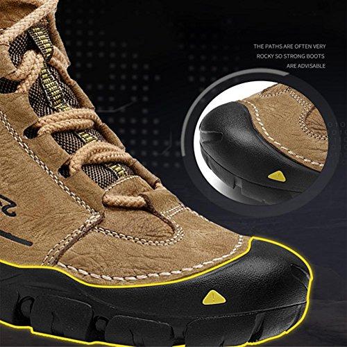 Botas Trekking Libre Genuina De Khaki Invierno Impermeable Aire Adidasyer Viaje Excursionismo Poca Zapatos Piel Para Con Y Ligero Alpinismo Antideslizante Cordones Al Hombres Keepwarm Altura wRScq5IC