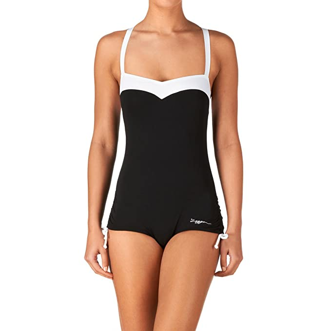 Zoggs Womens Tathra Ruch Side Booty Suit