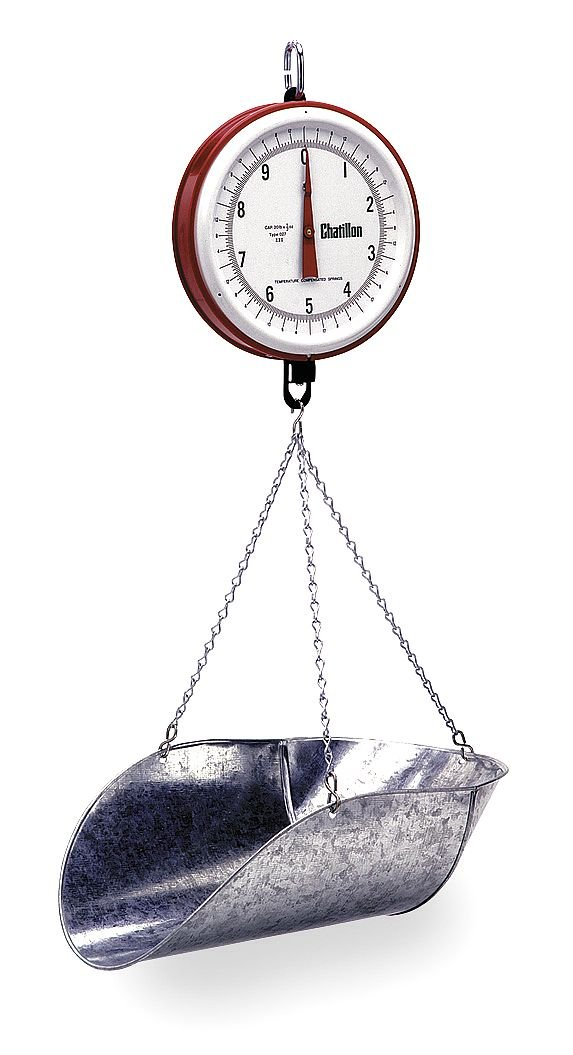 Chatillon Ametek Ametek U.S. Gauge - 0720DD-T-CG - 20 lb. Mechanical Analog Dial Hanging Scale by Chatillon Ametek