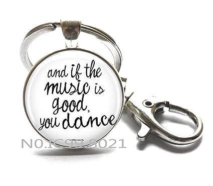 Amazoncom Music And Dance Keychain Concert Quote Keychain Dance