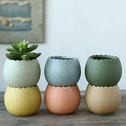 Small Indoor Ceramic Flower Pot Easter Spring Flower Pot Abstract Colorful Floral 6in Ceramic Planter Pastel Tie Dye Planter