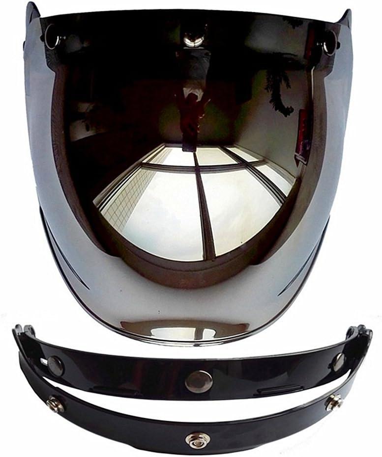 Cuzaekii Open Face Motorcycle Helmet Bubble Visor Lens Motorbike Glasses fit for Harley /& Jet Helmets Brown
