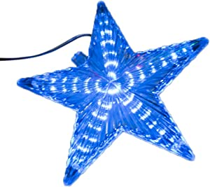 Zhengpin Christmas Tree Topper, 1PCS Christmas Tree Topper Star Light, LED Light Up Christmas Tree Topper Rattan Lighted Tree Topper Star Light for Xmas Tree Ornaments Party Home Decorations