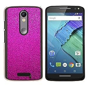 EJOOY---Cubierta de la caja de protección para la piel dura ** Motorola Moto X3 3rd Generation ** --Reflexivo Rosa Púrpura Wallpaper