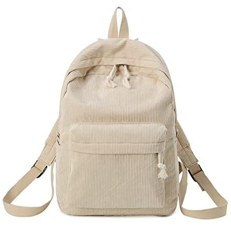 JAGENIE Fashion Women Girls Students Corduroy Backpack Rucksack School Bags  Khaki  Amazon.co.uk  Kitchen   Home c98249ea6e680