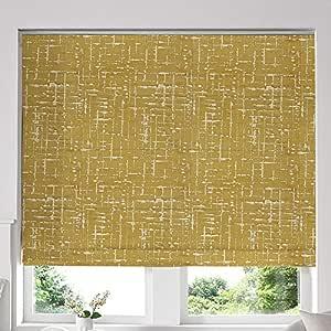 Blinds2Curtains Yellow 160H x 100W Cm Vera Mimosa Roman Window Blinds